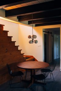 woonkamer trappen hout