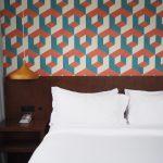 slaapkamer behang jaren 70